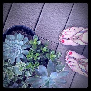 Burberry Nova Plaid Jute Wedge Heels Sandals
